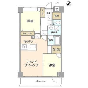 2LDK Apartment in Hatagaya - Shibuya-ku Floorplan