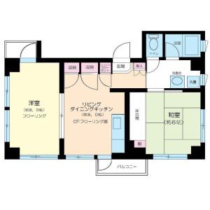 2DK Mansion in Higashiazabu - Minato-ku Floorplan