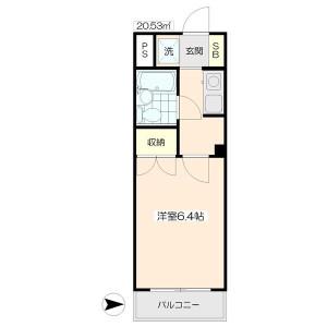 1K Mansion in Sakuradai - Nerima-ku Floorplan