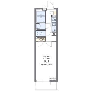 1K Mansion in Yagami - Kawasaki-shi Saiwai-ku Floorplan