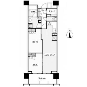 2SLDK Apartment in Nishiki - Nagoya-shi Naka-ku Floorplan