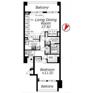 港区白金台-1LDK公寓大厦 楼层布局