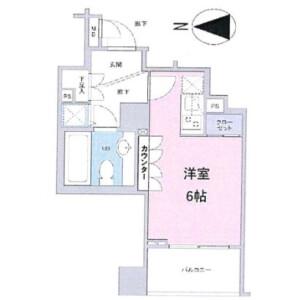 新宿區大久保-1R公寓大廈 房間格局