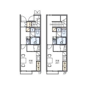 1K Apartment in Nakae - Nagoya-shi Minami-ku Floorplan