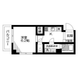 1K Mansion in Nishiogikita - Suginami-ku Floorplan