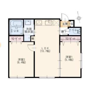 2LDK Mansion in Sakamachi - Shinjuku-ku Floorplan