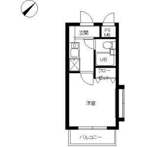 1K Mansion in Miyazaki - Kawasaki-shi Miyamae-ku Floorplan