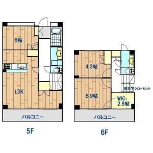 3LDK Mansion in Komaba - Meguro-ku Floorplan