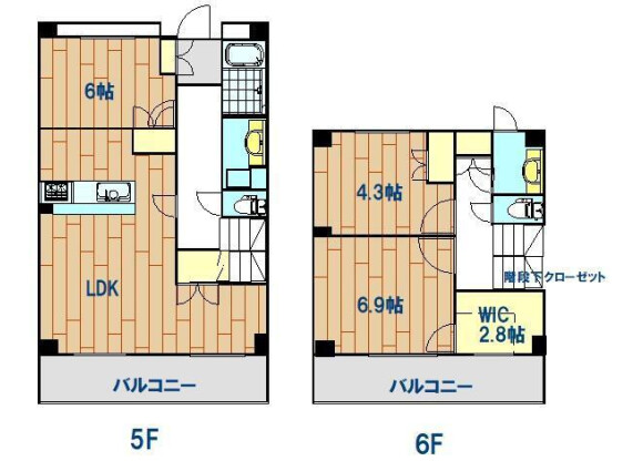 3LDK Apartment to Rent in Meguro-ku Floorplan