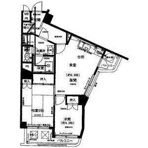 2DK Mansion in Konan - Minato-ku Floorplan
