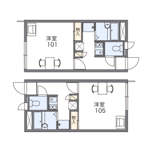 1K Apartment in Takakuracho - Nagoya-shi Atsuta-ku Floorplan