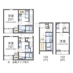 1K Apartment in Minamiogikubo - Suginami-ku Floorplan