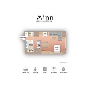 Minn Ueno - Serviced Apartment, Taito-ku Floorplan
