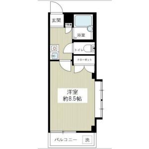 1K Mansion in Ebisu - Shibuya-ku Floorplan