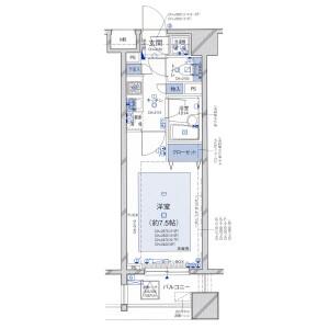 1K Mansion in Kudamminami - Chiyoda-ku Floorplan