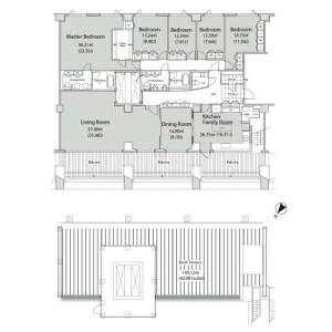 5LDK Apartment in Uehara - Shibuya-ku Floorplan