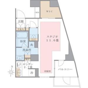 1K Mansion in Shinonome - Koto-ku Floorplan