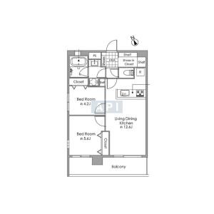 2LDK {building type} in Higashi - Shibuya-ku Floorplan