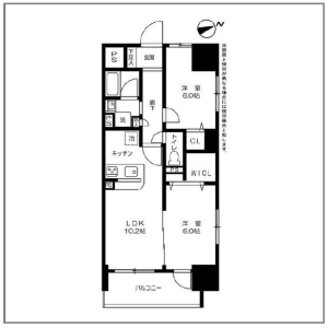 2LDK Mansion in Taito - Taito-ku Floorplan