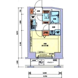 1K Mansion in Wakamatsucho - Shinjuku-ku Floorplan