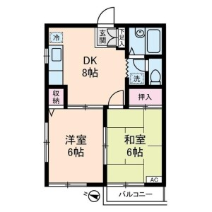 2DK Apartment in Komone - Itabashi-ku Floorplan