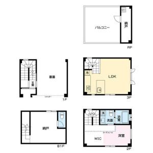 1SDK {building type} in Nishitemma - Osaka-shi Kita-ku Floorplan