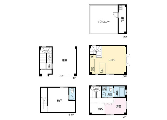 1SDK House to Buy in Osaka-shi Kita-ku Floorplan