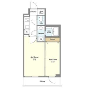 2K Mansion in Uguisudanicho - Shibuya-ku Floorplan
