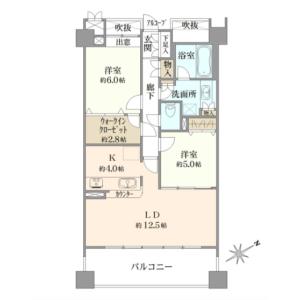 2LDK {building type} in Kaigan(1.2-chome) - Minato-ku Floorplan