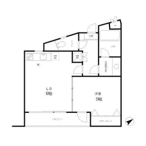 1DK Mansion in Honan - Suginami-ku Floorplan