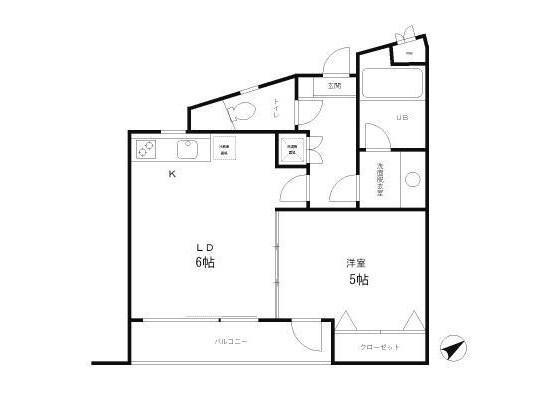 1DK Apartment to Rent in Suginami-ku Floorplan
