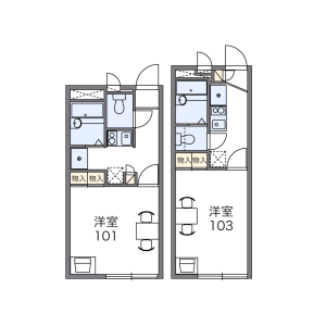 1K Apartment in Shiokusa - Osaka-shi Naniwa-ku Floorplan