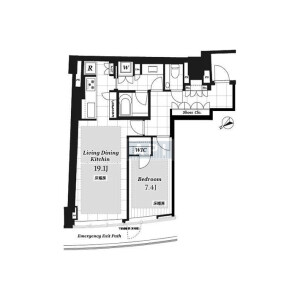 1LDK {building type} in Minamiaoyama - Minato-ku Floorplan