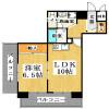 1LDK Apartment to Rent in Osaka-shi Minato-ku Floorplan
