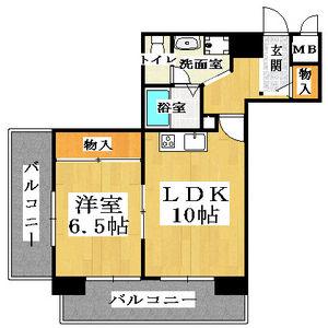 1LDK Mansion in Chikko - Osaka-shi Minato-ku Floorplan
