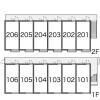 1K Apartment to Rent in Funabashi-shi Layout Drawing