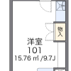 1R Apartment to Rent in Kawagoe-shi Floorplan
