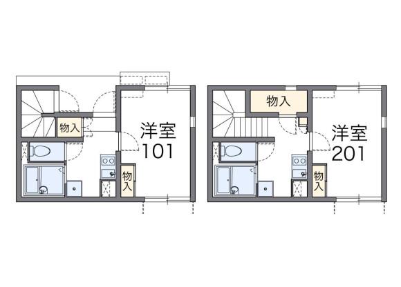 在福岡市博多區內租賃1K 公寓 的房產 房間格局