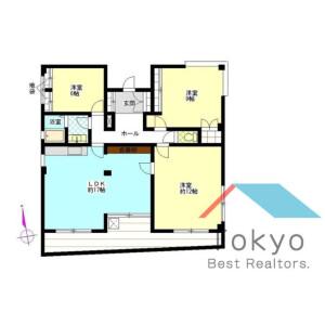 中野区中野-3LDK公寓大厦 楼层布局