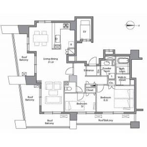 2LDK Mansion in Sakuragaokacho - Shibuya-ku Floorplan