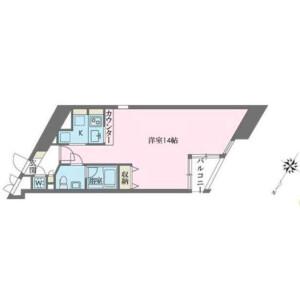 1R Apartment in Megurohoncho - Meguro-ku Floorplan