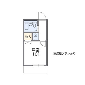 1K Apartment in Yagochi(2-chome) - Edogawa-ku Floorplan