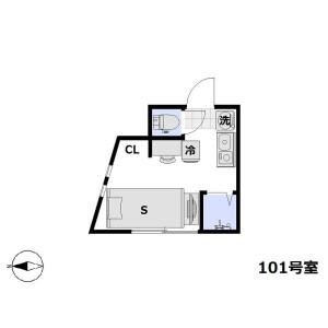 1R Apartment in Kamitakada - Nakano-ku Floorplan