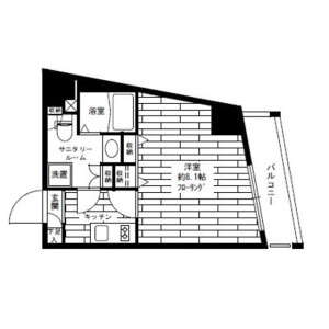 1R Mansion in Takinogawa - Kita-ku Floorplan