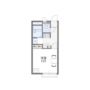 1K Mansion in Aoyagi - Kunitachi-shi Floorplan