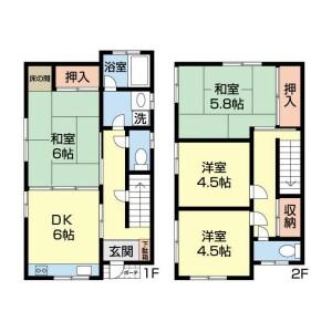 4DK {building type} in Kamitakada - Nakano-ku Floorplan