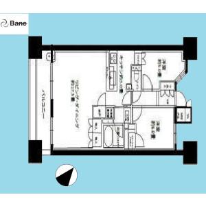 2LDK {building type} in Komatsugawa - Edogawa-ku Floorplan