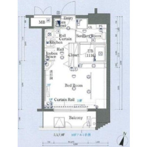 1R Mansion in Shirokane - Minato-ku Floorplan