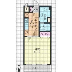 1K Mansion in Sakurashimmachi - Setagaya-ku Floorplan