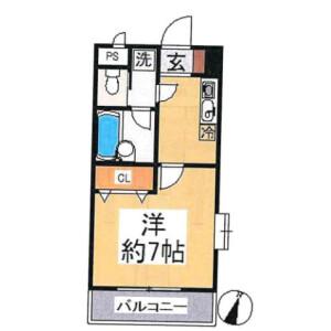 1K Mansion in Sakusabecho - Chiba-shi Inage-ku Floorplan